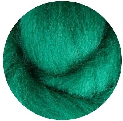 NZ Corriedale Wool Roving --  Green