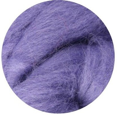 NZ Corriedale Wool Roving --  Lavender