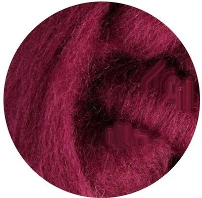 NZ Corriedale Wool Roving --  Raspberry