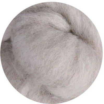 Undyed NZ Corriedale Wool Roving -- Light Sheeps Brown