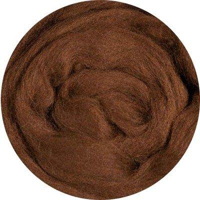 Fine Merino Wool Roving -- Brown