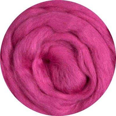 Fine Merino Wool Roving -- Fuchsia