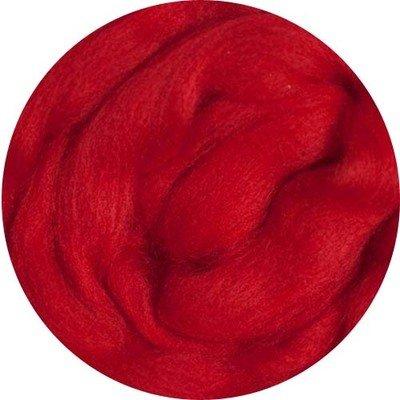 Fine Merino Wool Roving -- Red