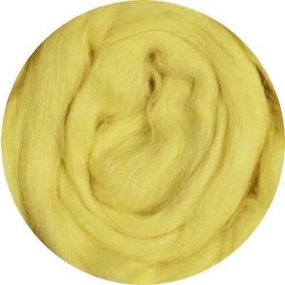 Fine Merino Wool Roving -- Yellow