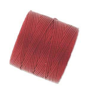 S-LON Superlon Bead Cord -- Red