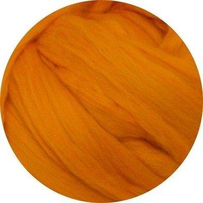 Fine Merino Wool Roving -- Tangerine