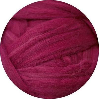 Fine Merino Wool Roving -- Ruby