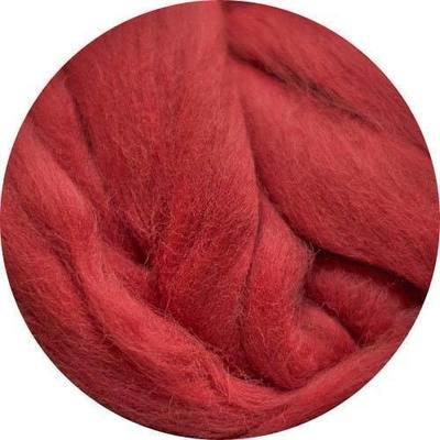 Fine Merino Wool Roving -- Cinnabar