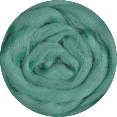 Fine Merino Wool Roving -- Turquoise green