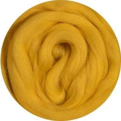 Fine Merino Wool Roving -- Golden