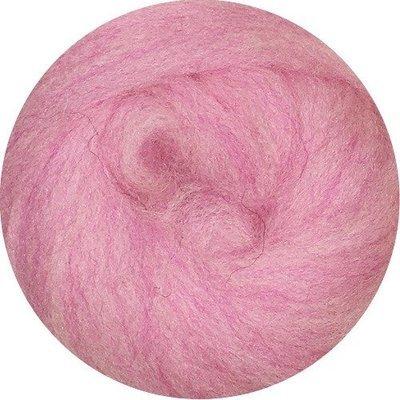 EcoSoft Wool Roving -- Cotton Candy