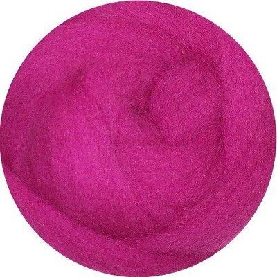 EcoSoft Wool Roving -- Fuchsia
