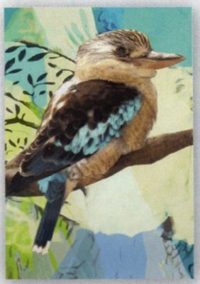 Tea Towel - Kookaburra - Microfibre & made in Australia - A lovely gift to take or send overseas