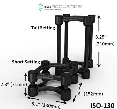 IsoAcoustics ISO-130 Isolation Stands