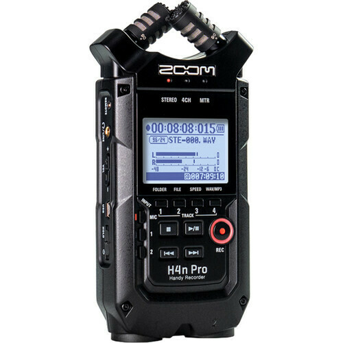 Zoom H4N PRO (black) 4-Track Portable Handy Recorder with Onboard X/Y Mic Capsule