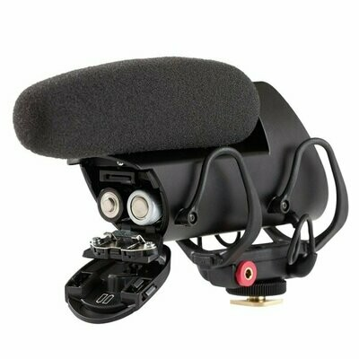 Shure VP83F camera-mount condenser microphone with integrated flash