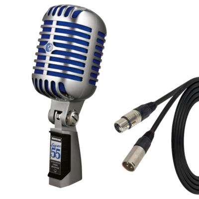 【6月優惠】Shure Super 55 microphone 連 3米 Canare XLR cable (Neutrik 頭)