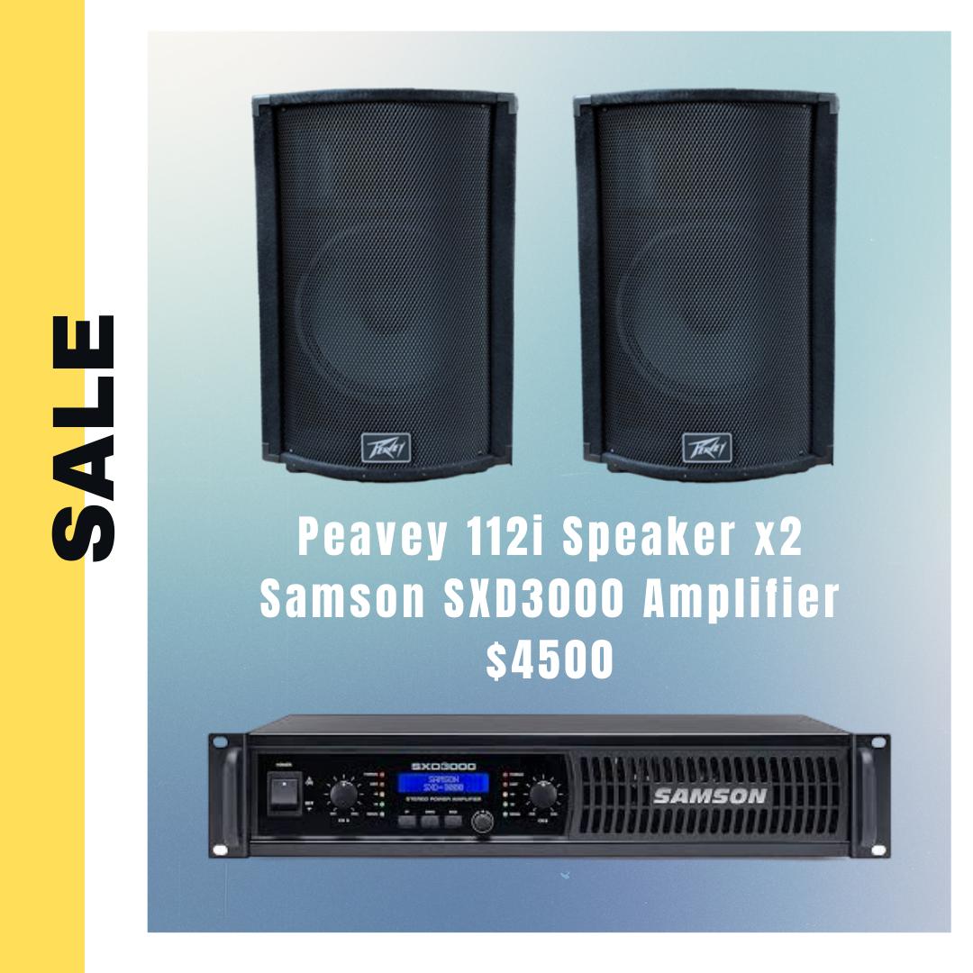 #特價套裝 Peavey 112i speaker + Samson SXD3000 amplfier #無保養