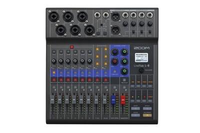 Zoom LiveTrak L-8 (compact podcast mixer, audio interface)