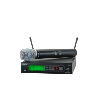 Shure SLX24/BETA87A (Wireless Microphone System with SLX2/BETA87A Handheld Transmitter)