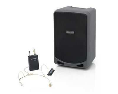 Samson Expedition XP106wDE (Rechargeable Portable PA System with beige headset)