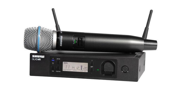 Shure GLXD24R/B87A handheld wireless system (2.4Ghz digital)