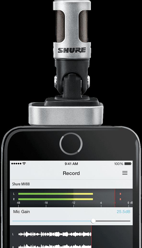 Shure MV88 (The Documenter) Digital Stereo Condenser Microphone