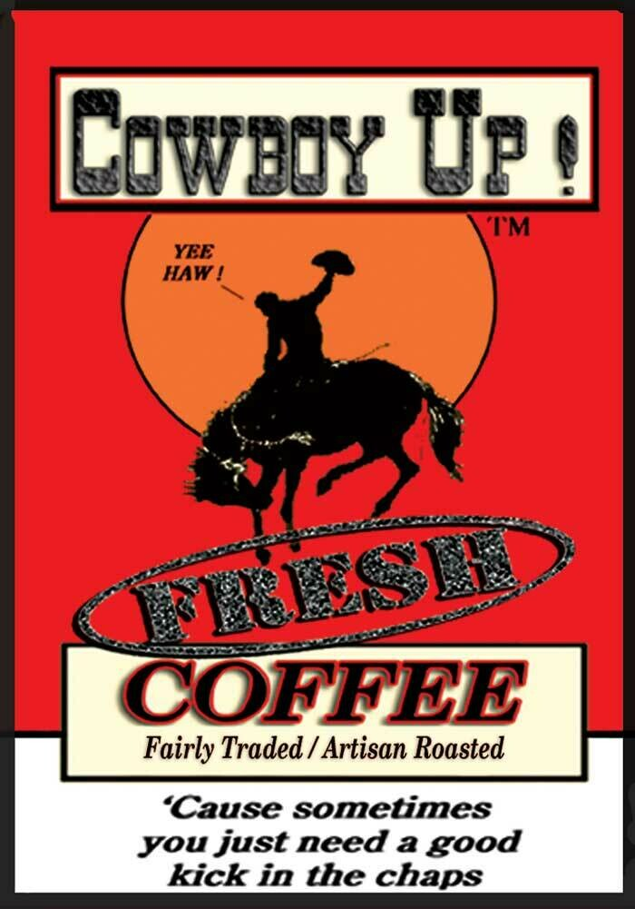 """Cowboy Up! in the five pound """"Power User Pack"""", with bonus flair."""
