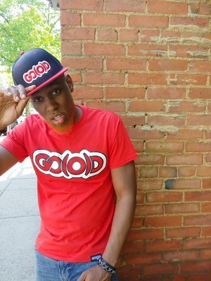 GO(O)D Classic Outline tee-red/white/black trim