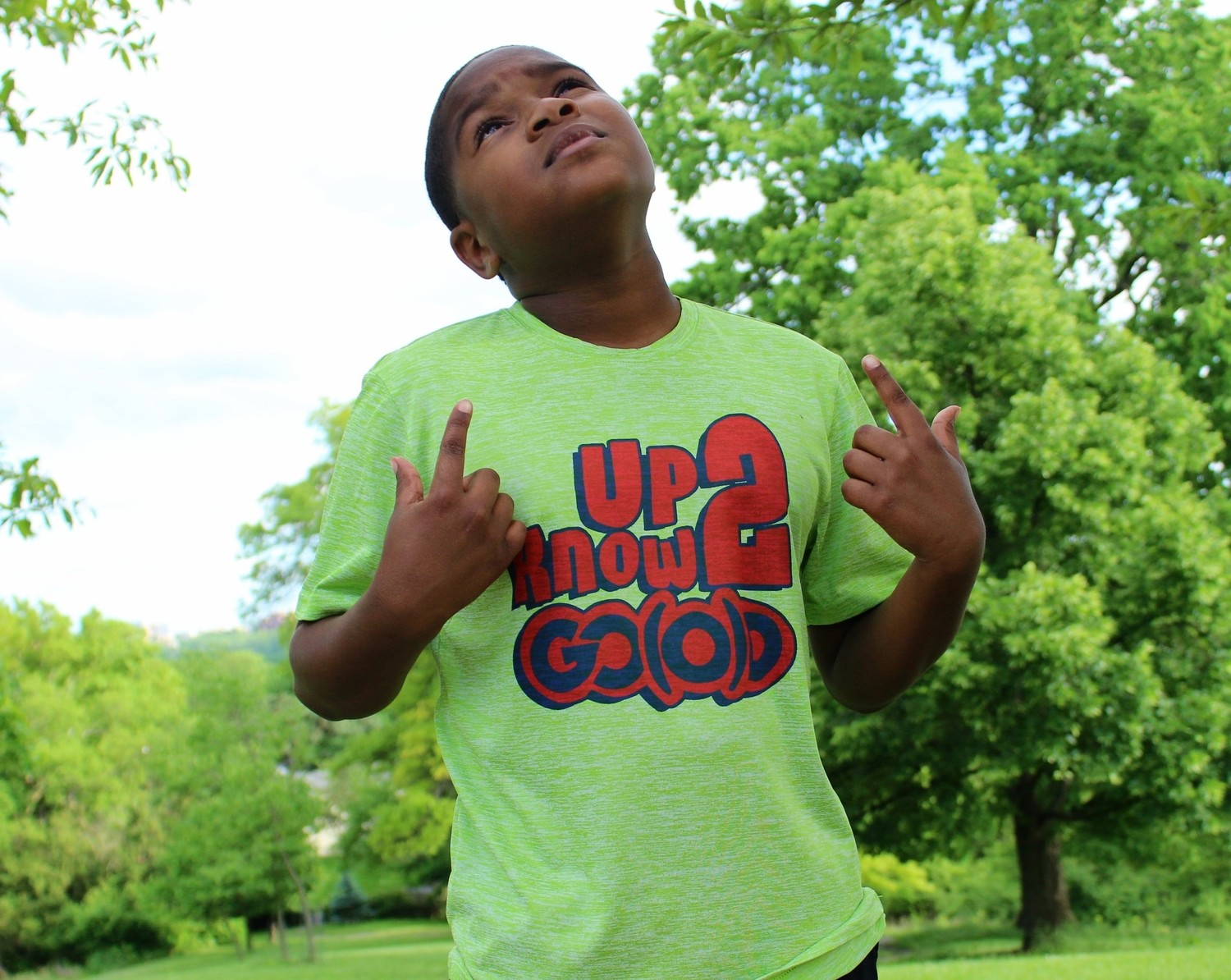Youth Up 2 Know GO(O)D tee-neon green/blue/red