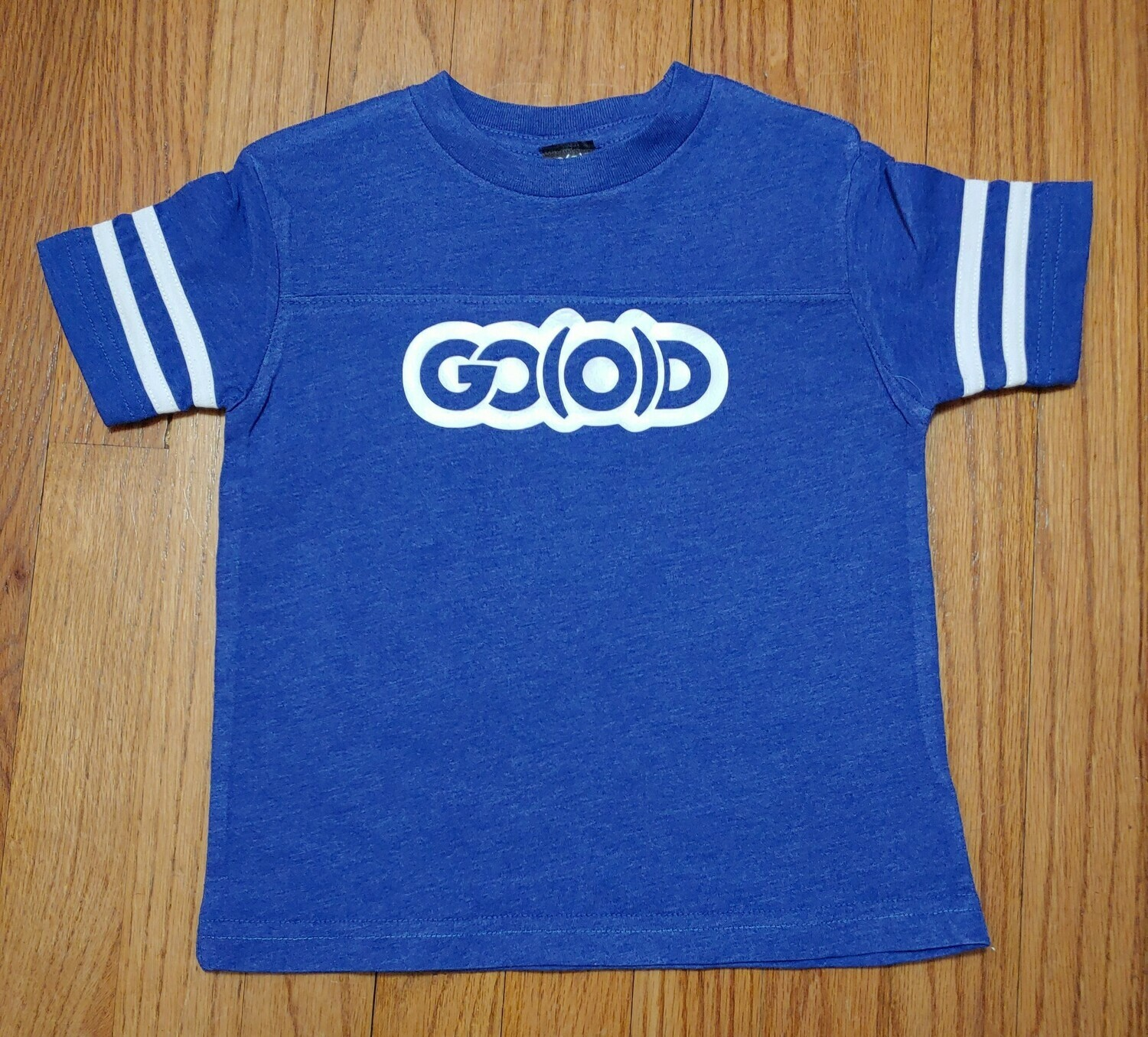GO(O)D Toddler Fine Jersey Tee-royal/white