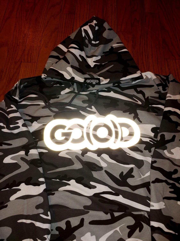 GO(O)D Winter Camo Hoodie/reflective logo