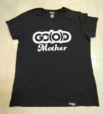GO(O)D Mother tee-black/white glitter logo