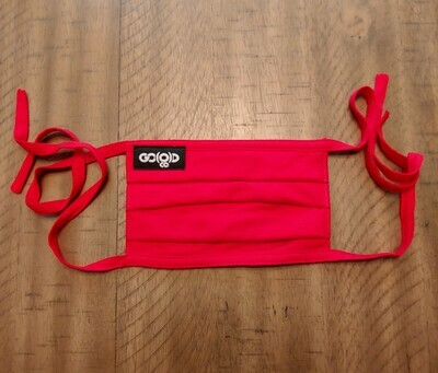 GO(O)D Pleated Face Mask/Tag logo-red