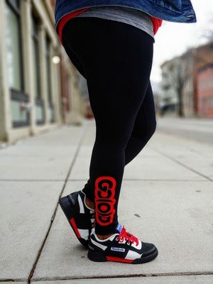 GO(O)D Leggings-black/red