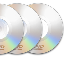 100 DVDs Duplicated w/ Thermal Print