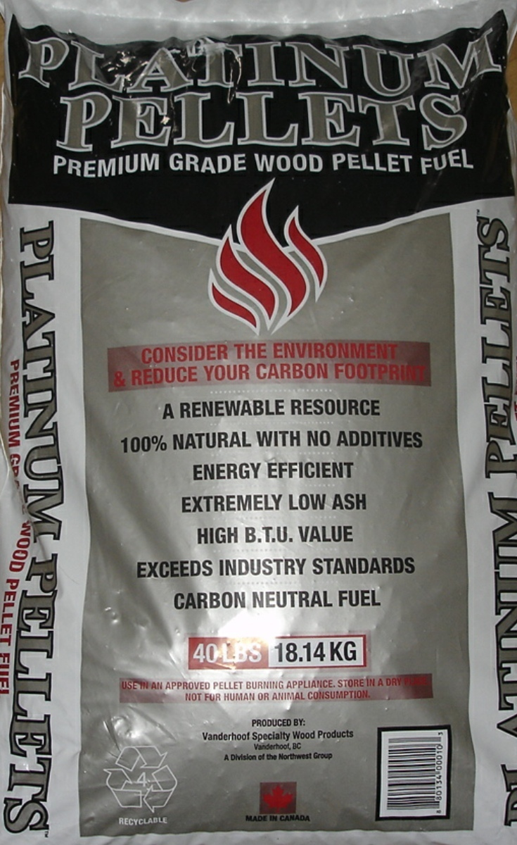 Platinum pellets by the bag premium wood pellet fuel