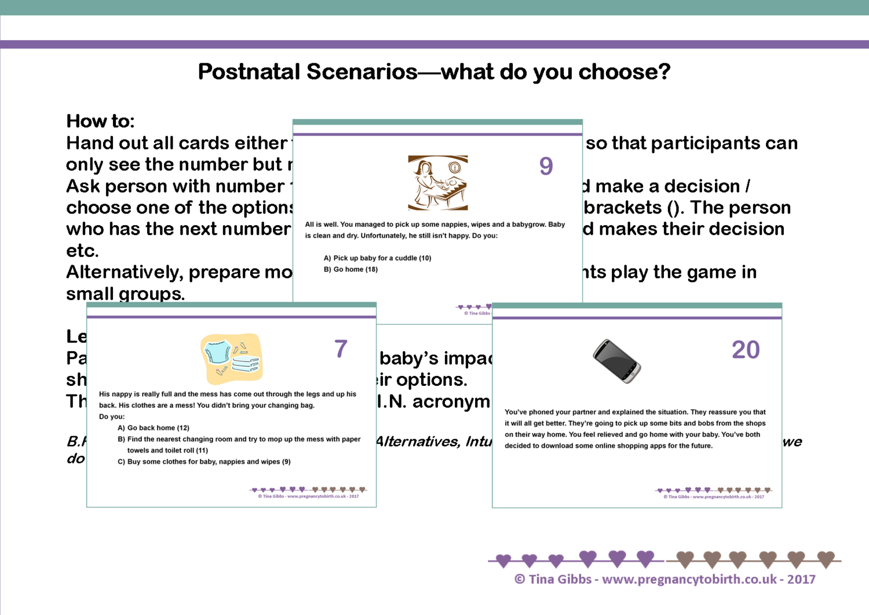 Postnatal Scenarios - What do you choose? + TWINS version