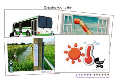 Dressing your baby - scenarios - print your own