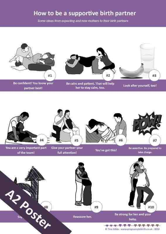 How to be a supportive birth partner - A2 poster