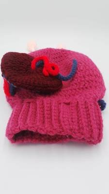 Crochet Uterus Model for Childbirth Education - detailed with Caesarean opening and mini placenta