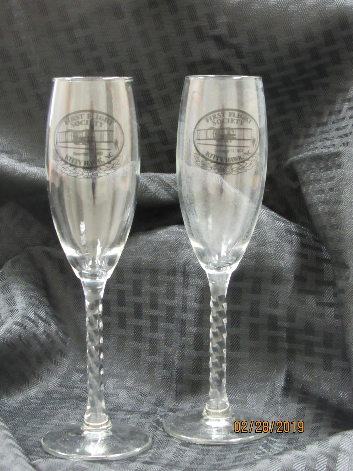 First Flight Society Champagne Glasses