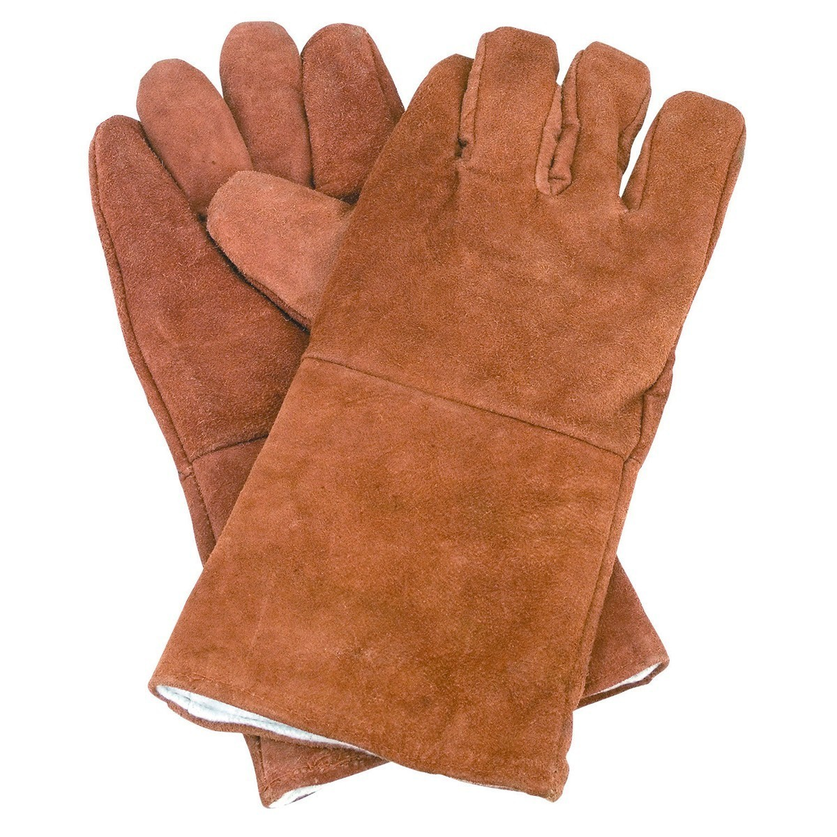 "Leather gloves with 14"" gaunts for barbed wire"