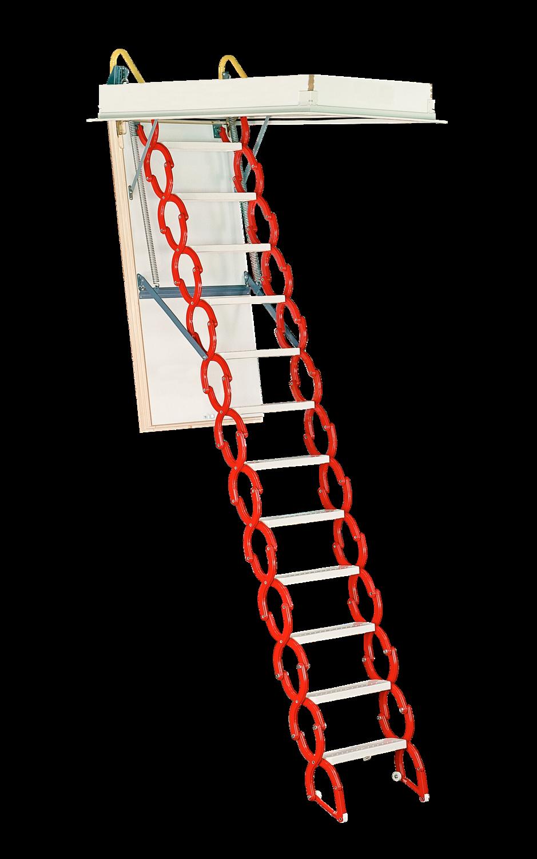 Rainbow Prestige Telescoping Attic Stair - Red M3060H