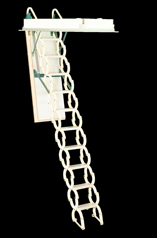 Rainbow Prestige Telescoping Attic Stair - White M2236