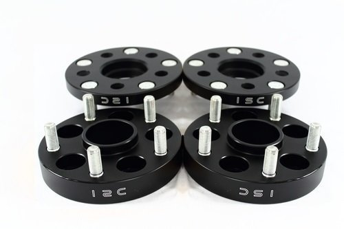 ISC 5x114.3 20mm Black Hub Centric Wheel Spacers (Pair)