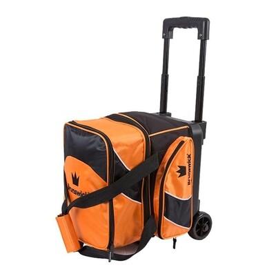 Brunswick Edge 1 Ball Roller Black/Orange Bowling Bag