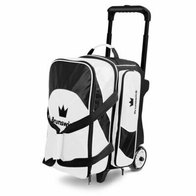 Brunswick Edge Double Roller Black/White Bowling Bag