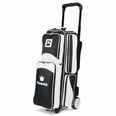 Brunswick  Edge Triple Roller Black/White Bowling Bag
