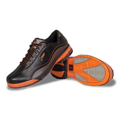 Hammer Force Black/Carbon/Orange Mens Right Handed Bowling Shoes